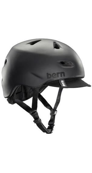 Bern Brentwood Summer Matte Black w/ flip visor